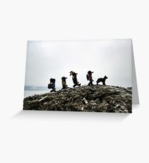 Camping on the Coast Greeting Card