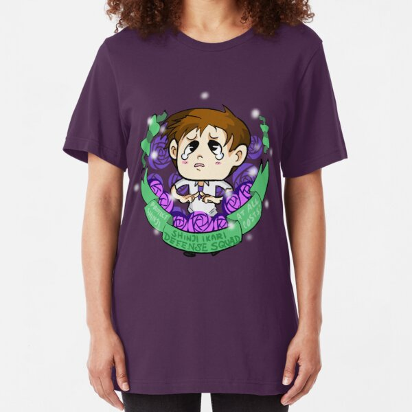 Shinji Ikari Defense Squad Slim Fit T-Shirt