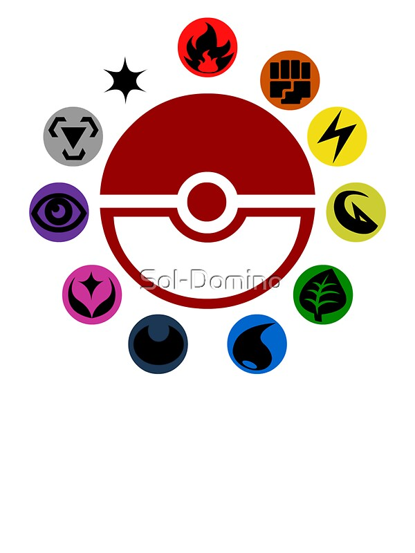 Quot Pokemon Tcg Types Quot Stickers By Jd Rowe Redbubble