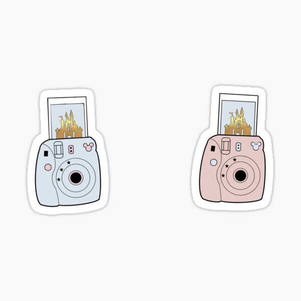 Pastell Polaroid Print Castle Sticker
