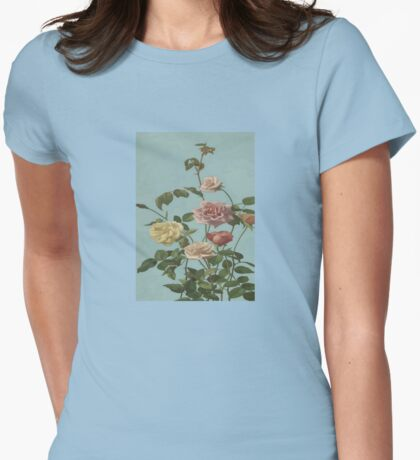 Vintage Tea Rose and Blush Roses T-Shirt