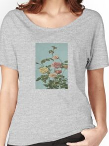 Vintage Tea Rose and Blush Roses Women's Relaxed Fit T-Shirt