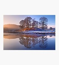 Clearing mist and reflections - River Brathay Photographic Print