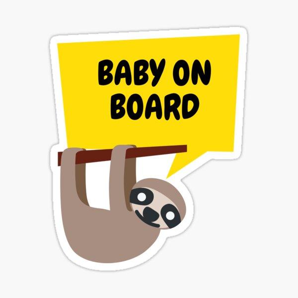 Sloth Baby on Board Sticker