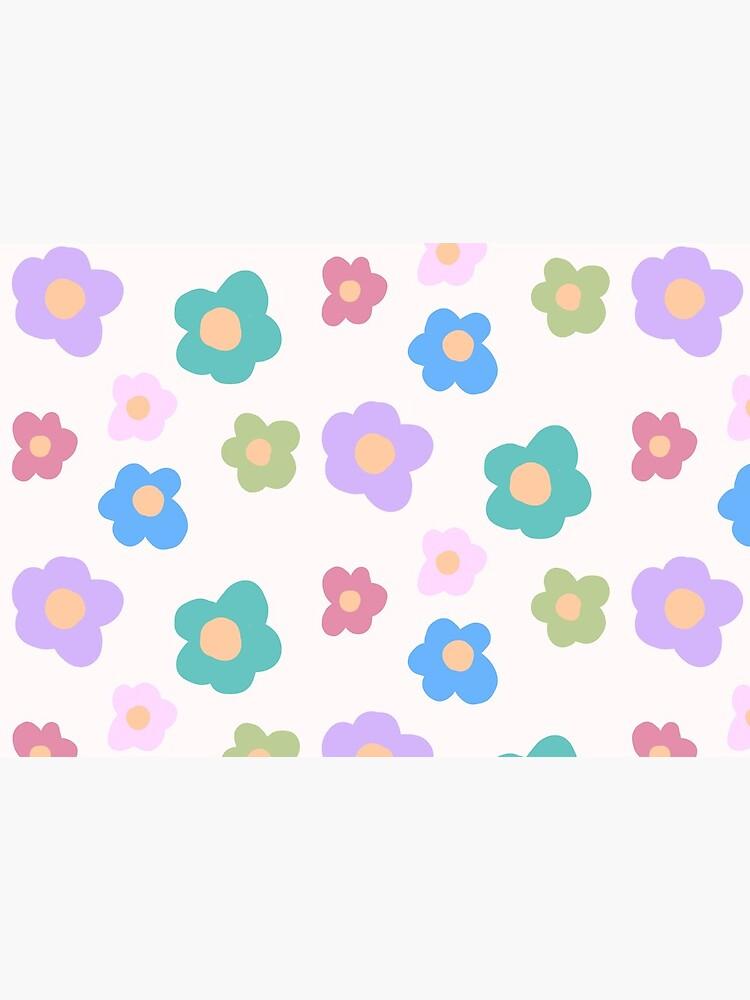 CUTE KAWAII COTTAGECORE FLOWERS 80S RAINBOW Y2K 2000S nostalgia print by lunar0000