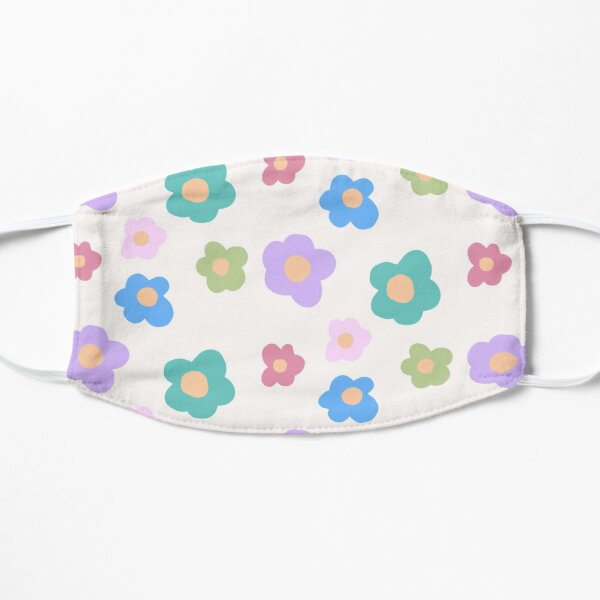 CUTE KAWAII COTTAGECORE FLOWERS 80S RAINBOW Y2K 2000S nostalgia print Mask