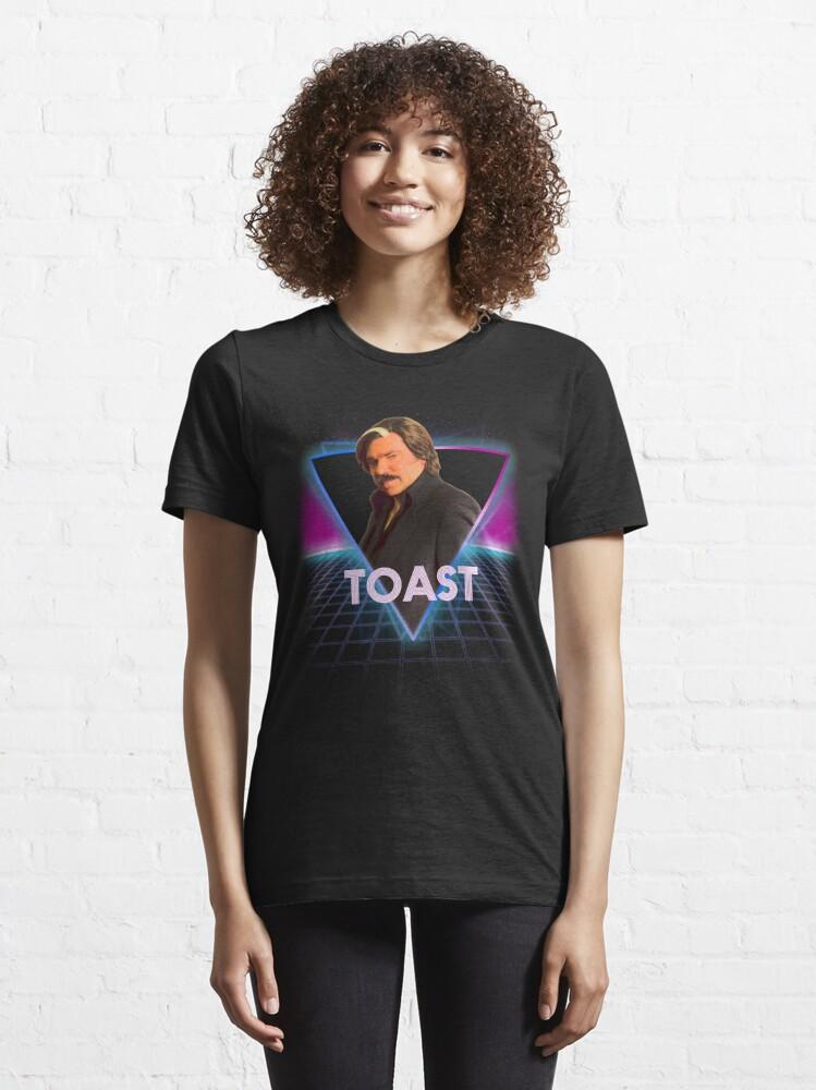 Alternate view of Steven Toast Of London Retro 80s Neon Landscape Essential T-Shirt