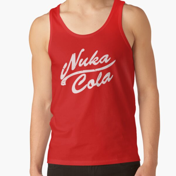 Weathered Nuka Cola (white on red) Tank Top