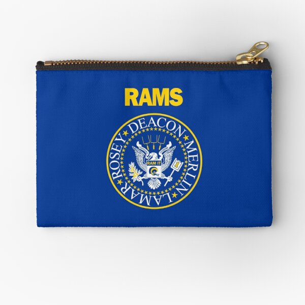 RAM[one]S - Fearsome Foursome - Blue & Yellow Zipper Pouch