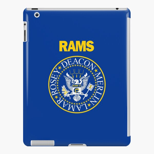 RAM[one]S - Fearsome Foursome - Blue & Yellow iPad Snap Case