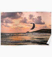 Lone Kite Surfer Poster