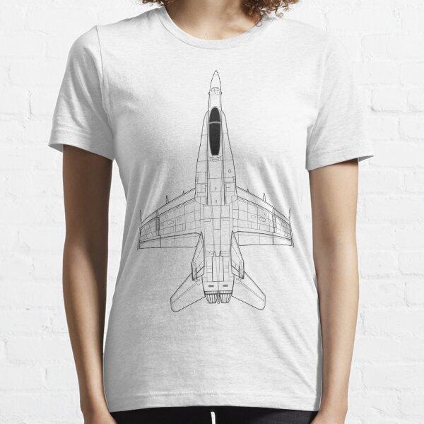 McDonnell Douglas F-18 Hornet Blueprint Essential T-Shirt