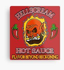 Hellscream Hot Sauce Metal Print