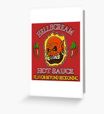 Hellscream Hot Sauce Greeting Card