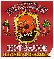 Hellscream Hot Sauce Poster