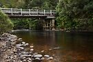 Bridge over the Leven River by Karine Radcliffe