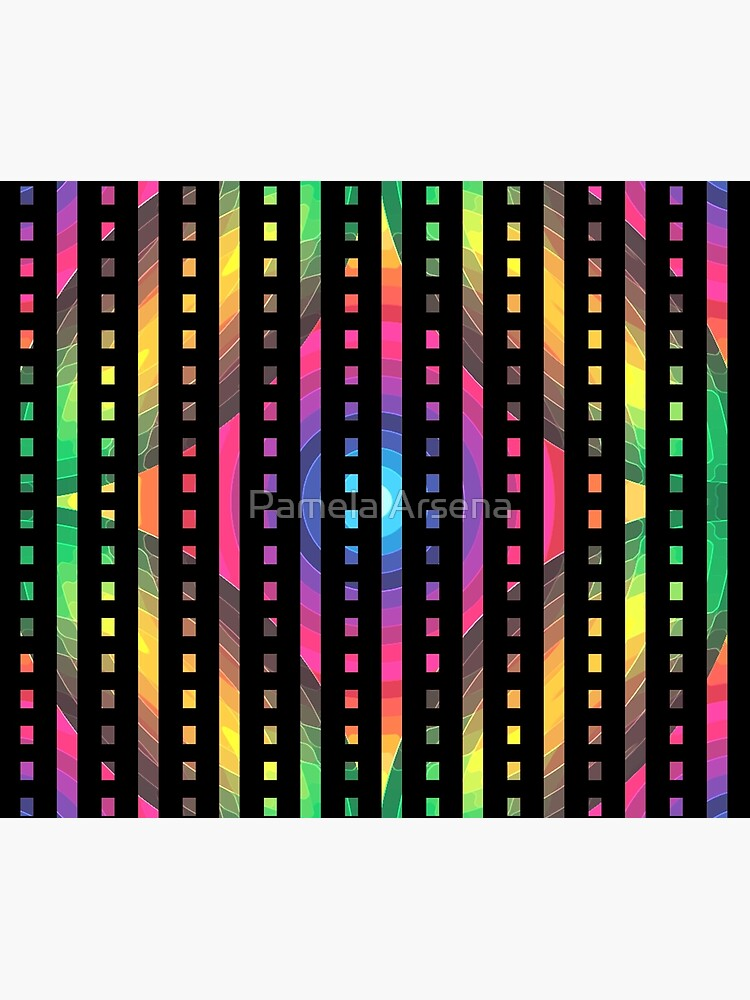 Psychedelic Rainbow Stripe Pattern by xpressio