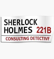Sherlock Holmes Street Sign Poster