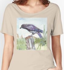 Coco on the fencepost Women's Relaxed Fit T-Shirt