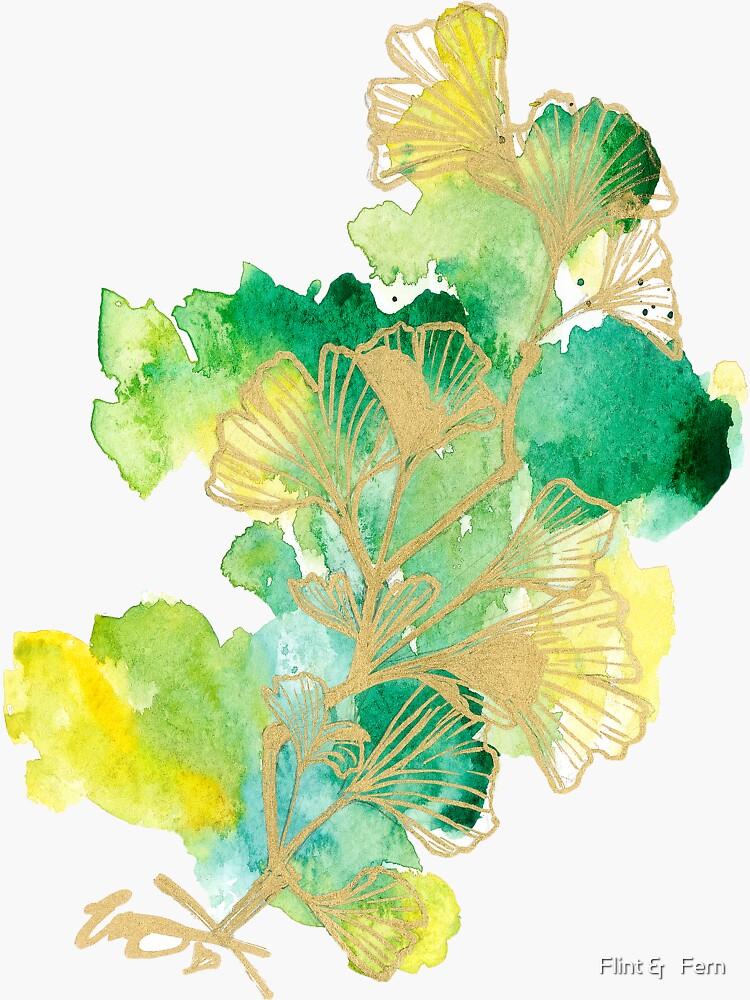 watercolor ginkgo