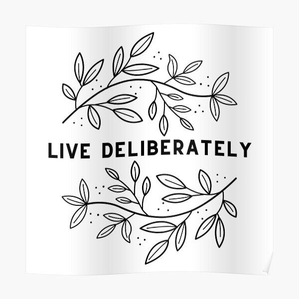 Vivre délibérément // Dead Poets Society Poster