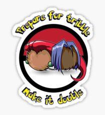 Team Tribble Rocket (Star Trek / Pokemon Mashup) Sticker