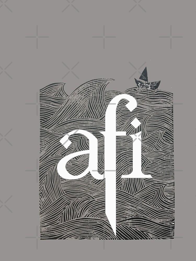 T-shirt « AFI - tirage original - coupe lino. 'Rough Seas'. Idéal pour une chemise ou un arrière ...