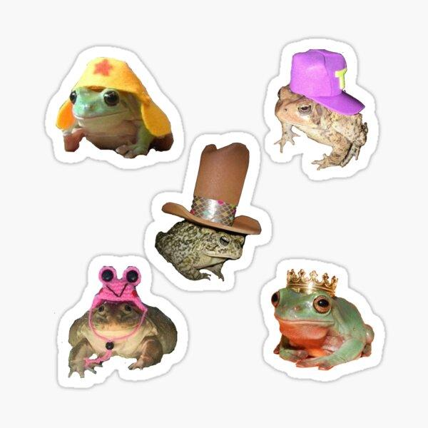 Pack d'autocollants grenouilles et crapauds en chapeaux Sticker