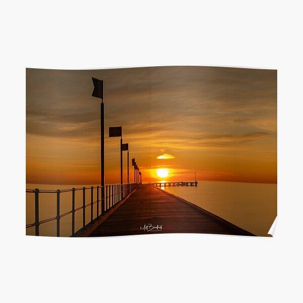 Frankston pier Sunset 2 Poster