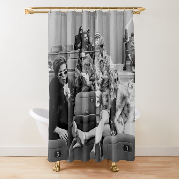 Waiting With Smoking Shower Curtain
