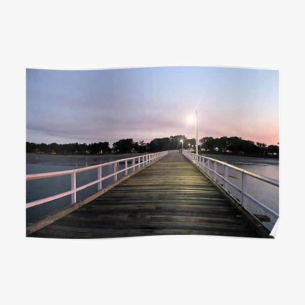 Urangan Pier, Harvey Bay, QLD, Australia Poster
