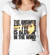 Bob Dylan blowin' in the wind  Women's Fitted Scoop T-Shirt