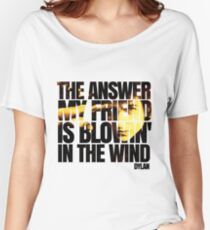 Bob Dylan blowin' in the wind  Women's Relaxed Fit T-Shirt
