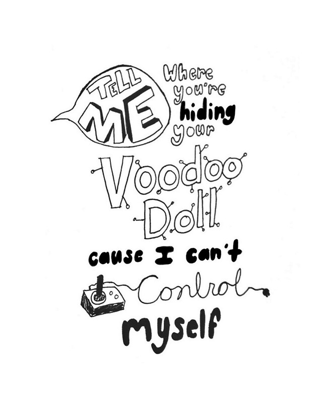 Quot 5 Seconds Of Summer Voodoo Doll Lyric Art Quot Posters By