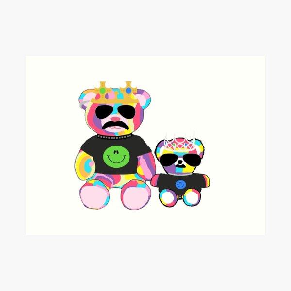 Rainbow Bear with shirts Art Print