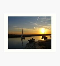Blakeney Quay Art Print