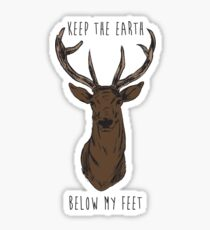 Keep The Earth Below My Feet. Sticker