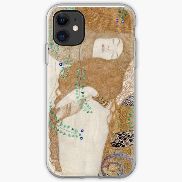 Gustav Klimt - Friends (Water Serpants)  1907 iPhone Soft Case