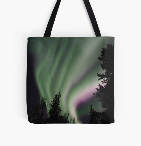 Northern Lights All Over Print Tote Bag