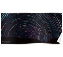 Startrails over Himalyas Poster