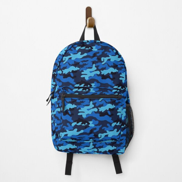 Blue Camouflage pattern Backpack
