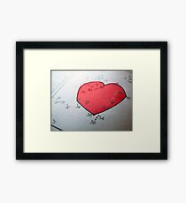 Connecting the dots comes a heart picture puzzle  Framed Print