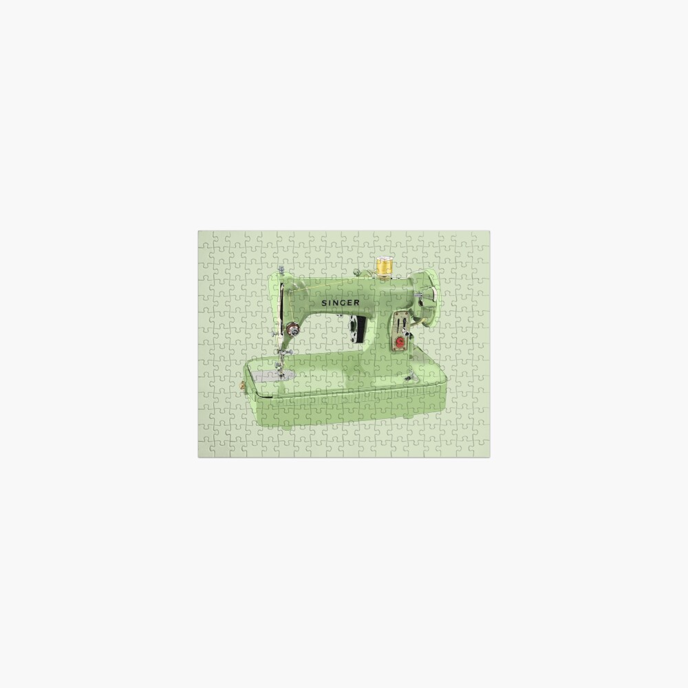 The green Singer sewing machine Jigsaw Puzzle