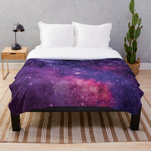 Blue and Pink Galaxy Star lights Throw Blanket