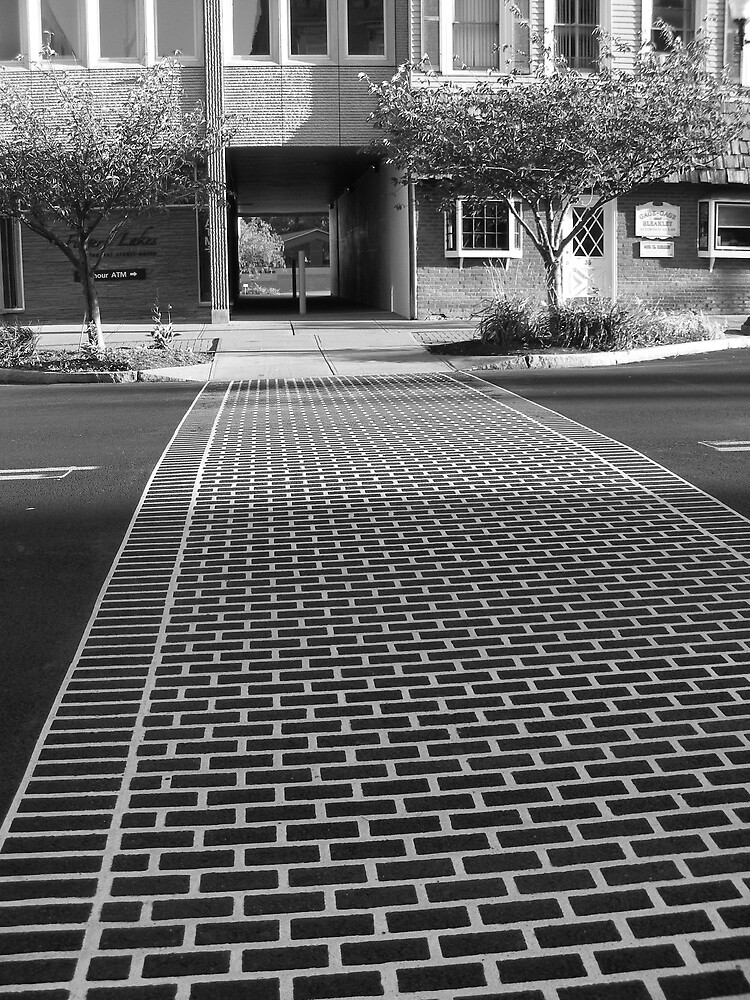 Crosswalk in Geneva, New York by Muzikgal