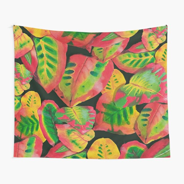 Midnight Tropical Jungle Tapestry
