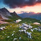 Alpine Sunset by Michael Breitung