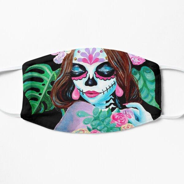 Sugar Skull Girl with Flowers - La Catrina   Mask
