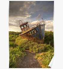 Cley Wreck Poster