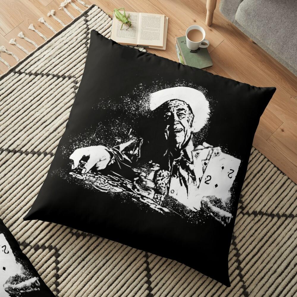 Doyle Brunson Painting Floor Pillow